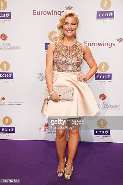 Jennifer Knaeble attends the Echo Award 2016 on April 07 2016 in Berlin Germany