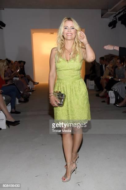 Jennifer Knaeble attends the Ewa Herzog show during the MercedesBenz Fashion Week Berlin Spring/Summer 2018 at Kaufhaus Jandorf on July 4 2017 in...