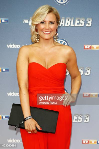 Jennifer Knaeble attends the German premiere of the film 'The Expendables 3' at Residenz Kino on August 6 2014 in Cologne Germany