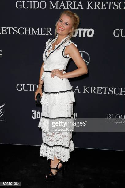 Jennifer Knaeble attends the Guido Maria Kretschmer Fashion Show Autumn/Winter 2017 presented by OTTO at Tempodrom on July 5 2017 in Berlin Germany