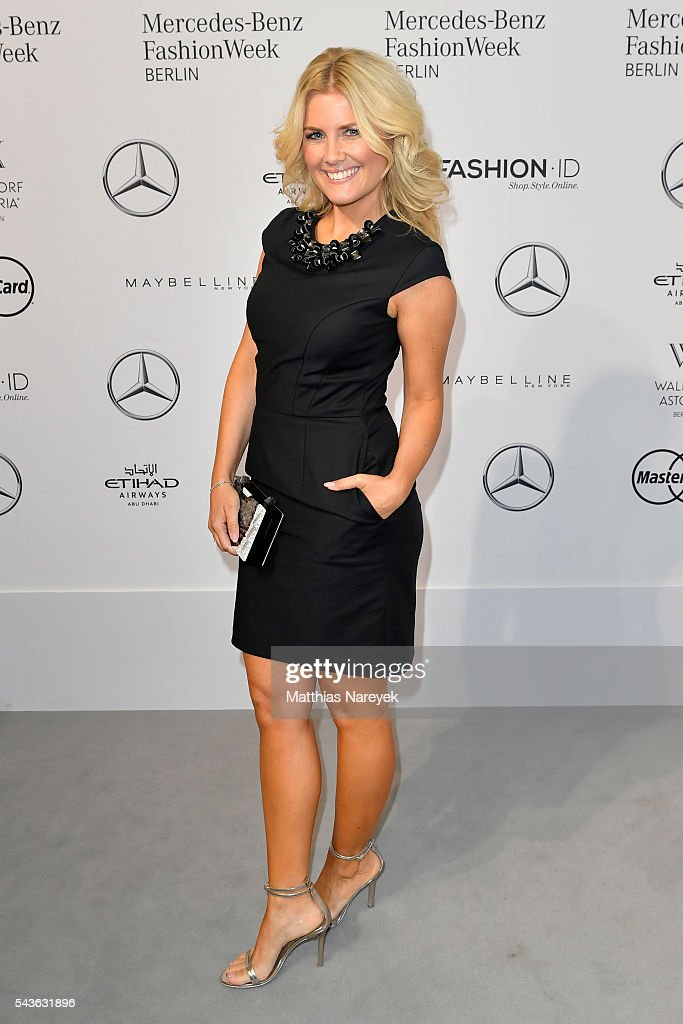 Jennifer Knaeble attends the Guido Maria Kretschmer show during the Mercedes-Benz Fashion Week Berlin Spring/Summer 2017 at Erika Hess Eisstadion on June 29, 2016 in Berlin, Germany.