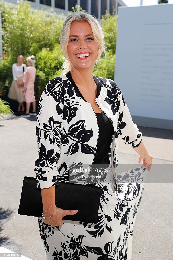 Jennifer Knaeble attends the Minx by Eva Lutz show during the Mercedes-Benz Fashion Week Berlin Spring/Summer 2017 at Erika Hess Eisstadion on June 29, 2016 in Berlin, Germany.