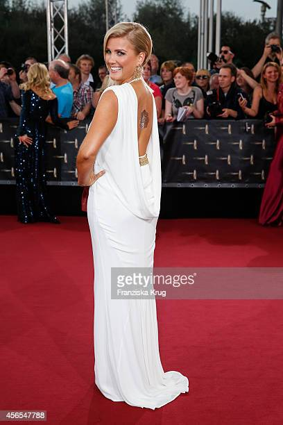 Jennifer Knaeble attends the red carpet of the Deutscher Fernsehpreis 2014 on October 02 2014 in Cologne Germany