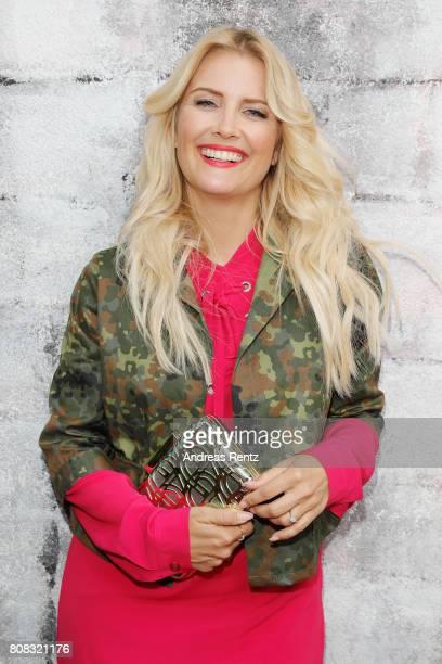 Jennifer Knaeble attends the Riani Fashion Show Spring/Summer 2018 at Umspannwerk Kreuzberg on July 4 2017 in Berlin Germany
