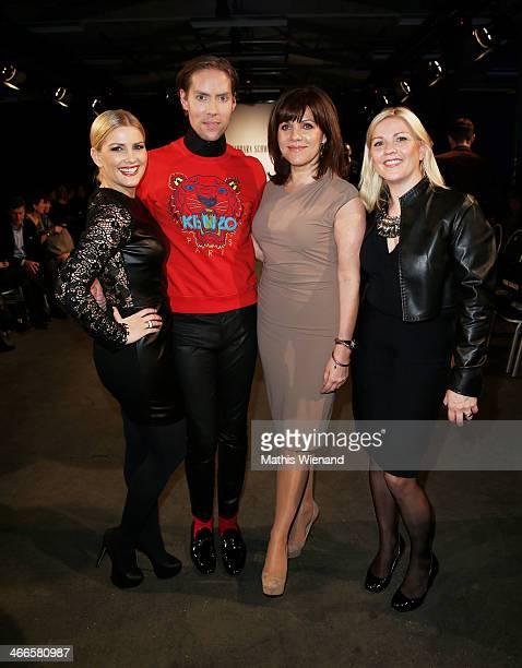 Jennifer Knaeblel Jens Hilpert Birgit Schrowange Aleks Bechtel attend the Barbara Schwarzer fashion show during Platform Fashion Dusseldorf on...