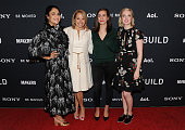 Jennifer Konner Journalist Katie Couric Lucia Aniello and Screenwriter Katie Dippold attend the AOL Build Makers and Sony Celebrate Women Creators...