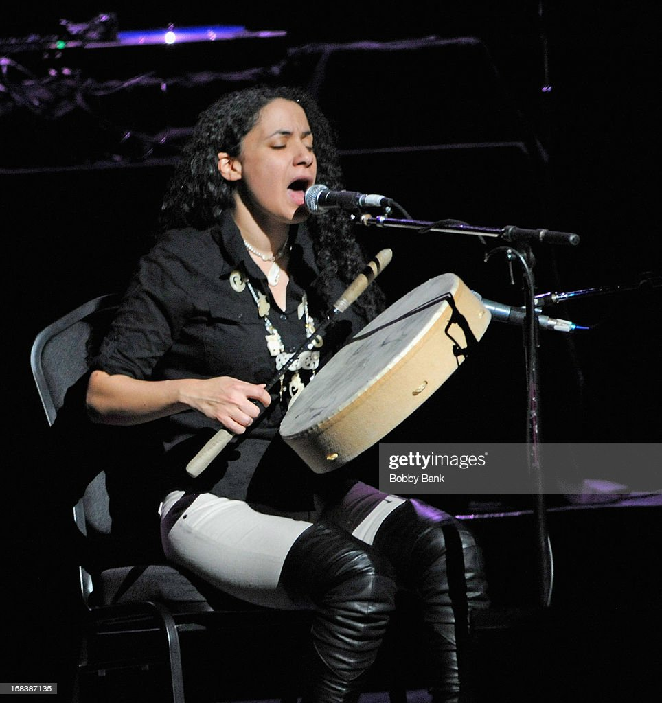 Jennifer Kreisberg performs at the 'Bring Leonard Peltier Home 2012' Concert at The Beacon Theatre on December 14, 2012 in New York City.
