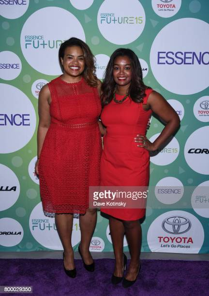 Jennifer Lambert and Jihan Thompson attend the Essence Toyota Future 15 Event at Root NYC on June 22 2017 in New York City