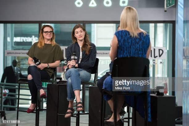 Jennifer Laura Thompson and Laura Dreyfuss visit Build Studios to discuss 'Dear Evan Hansen' at Build Studio on April 27 2017 in New York City