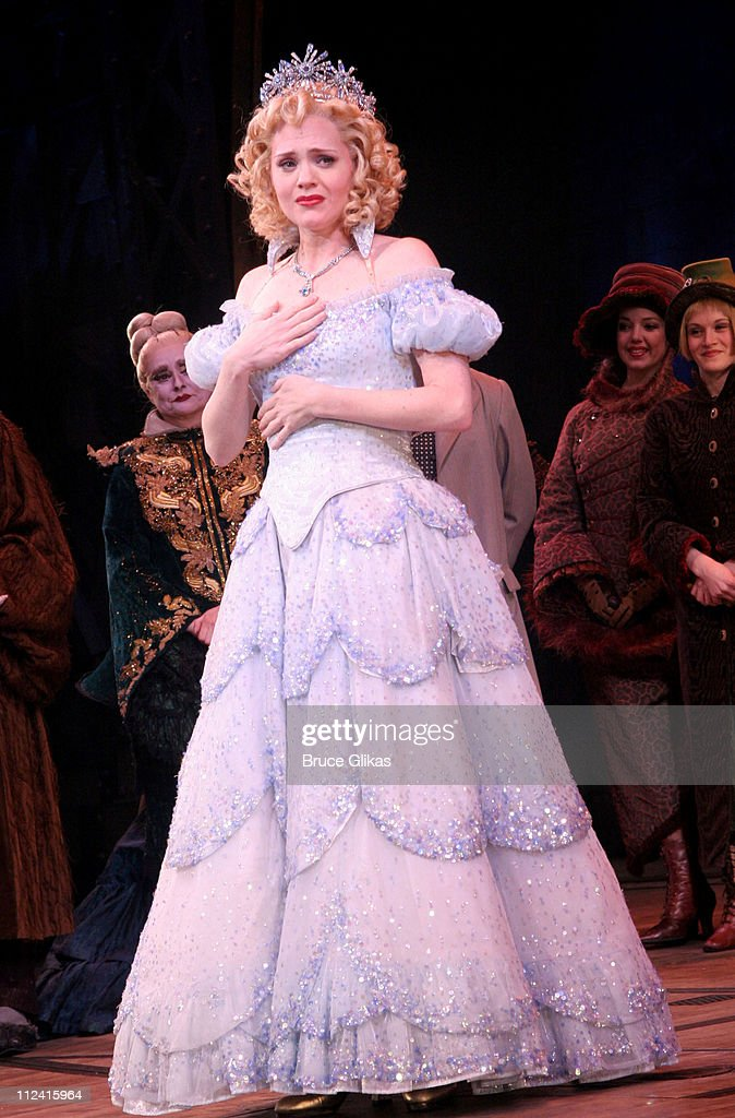 Jennifer Laura Thompson during Idina Menzel's Final Performance In 'Wicked' After Injury During The Show at The Gershwin Theater in New York, NY, United States.