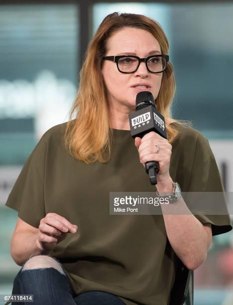 Jennifer Laura Thompson visits Build Studios to discuss 'Dear Evan Hansen' at Build Studio on April 27 2017 in New York City
