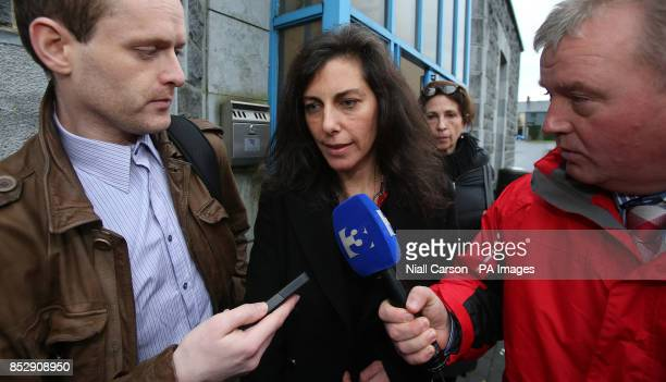 Jennifer Lauren leaving Ennis District Court where she was fined 2000 euros for pushing an air hostess and swearing at airline staff on board a...