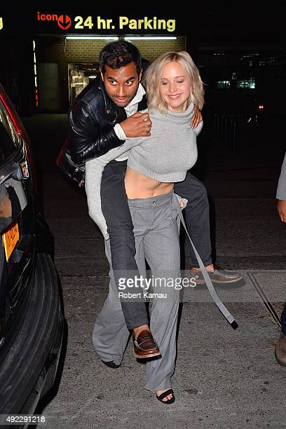 Jennifer Lawrence and Aziz Ansari sighting on October 10 2015 in New York City