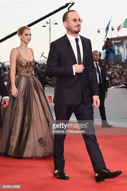 Jennifer Lawrence and Darren Aronofsky walk the red carpet ahead of the 'mother' screening during the 74th Venice Film Festival at Sala Grande on...