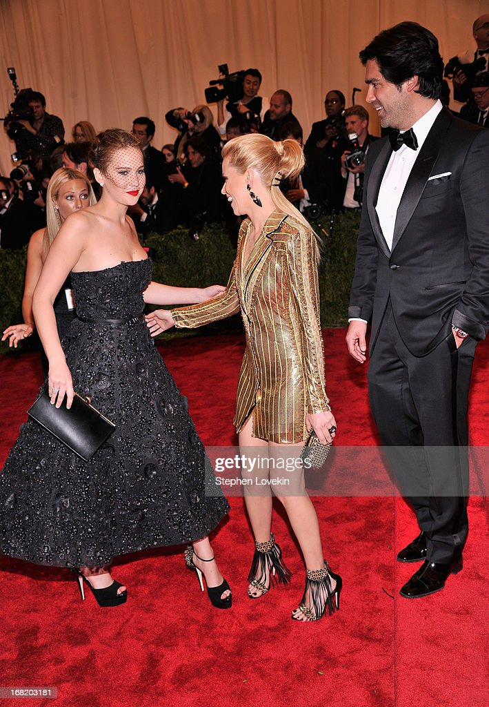 Jennifer Lawrence and Elizabeth Banks attend the Costume Institute Gala for the 'PUNK: Chaos to Couture' exhibition at the Metropolitan Museum of Art on May 6, 2013 in New York City.