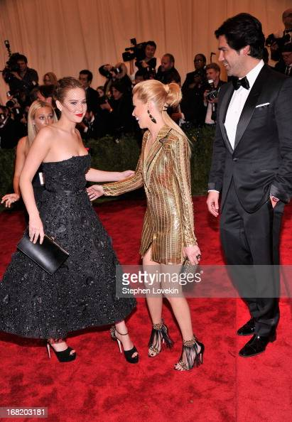 Jennifer Lawrence and Elizabeth Banks attend the Costume Institute Gala for the 'PUNK Chaos to Couture' exhibition at the Metropolitan Museum of Art...