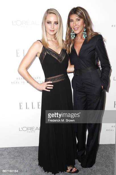Jennifer Lawrence and ELLE EditorinChief Nina Garcia attend ELLE's 24th Annual Women in Hollywood Celebration at Four Seasons Hotel Los Angeles at...