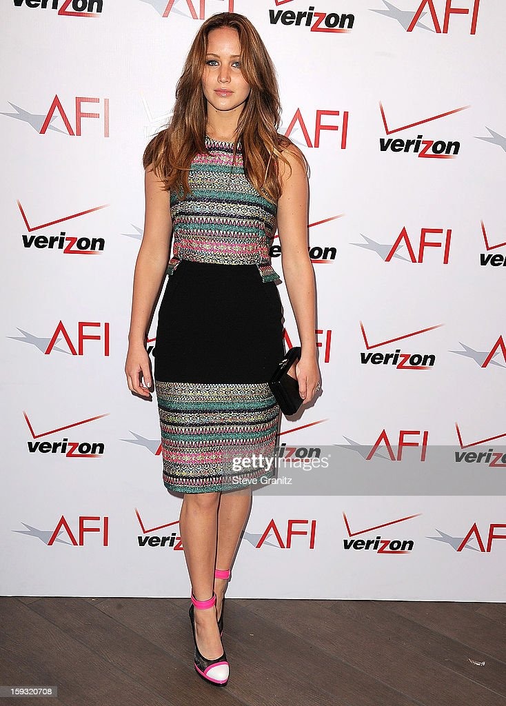 <a gi-track='captionPersonalityLinkClicked' href=/galleries/search?phrase=Jennifer+Lawrence&family=editorial&specificpeople=1596040 ng-click='$event.stopPropagation()'>Jennifer Lawrence</a> arrives at the 2012 AFI Awards Luncheon at Four Seasons Hotel Los Angeles at Beverly Hills on January 11, 2013 in Beverly Hills, California.