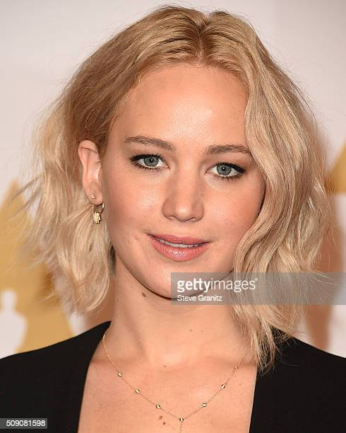 Jennifer Lawrence arrives at the 88th Annual Academy Awards Nominee Luncheon on February 8 2016 in Los Angeles California