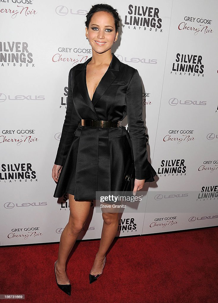 <a gi-track='captionPersonalityLinkClicked' href=/galleries/search?phrase=Jennifer+Lawrence&family=editorial&specificpeople=1596040 ng-click='$event.stopPropagation()'>Jennifer Lawrence</a> arrives at the 'Silver Linings Playbook' - Los Angeles Special Screening at the Academy of Motion Picture Arts and Sciences on November 19, 2012 in Beverly Hills, California.