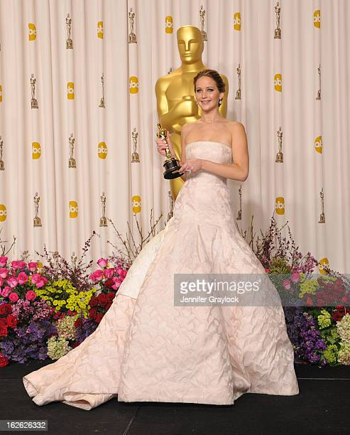 Jennifer Lawrence arrives to the 85th Annual Academy Awards Press Room held at Hollywood Highland Center on February 24 2013 in Hollywood California