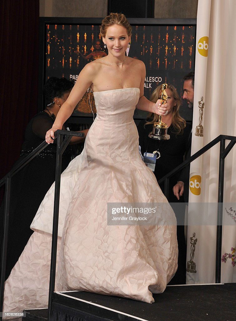Jennifer Lawrence arrives to the 85th Annual Academy Awards Press Room held at Hollywood & Highland Center on February 24, 2013 in Hollywood, California.