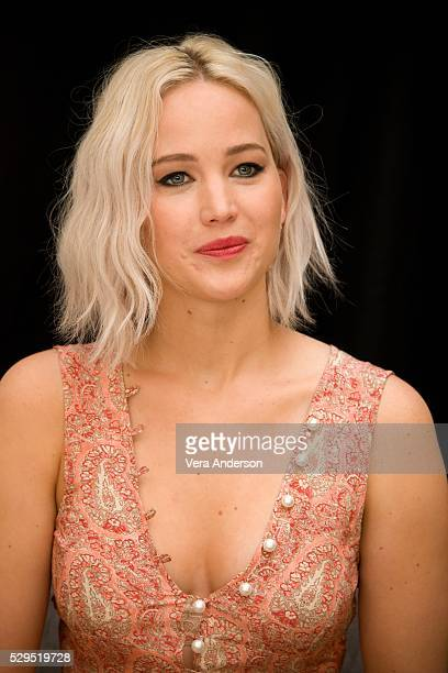 Jennifer Lawrence at the 'XMen Apocalypse' Press Conference at the Claridges Hotel on May 8 2016 in London England