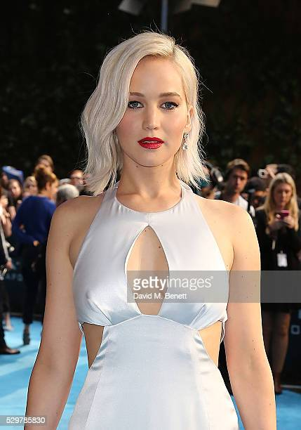 Jennifer Lawrence attends a Global Fan Screening of 'XMen Apocalypse' at the BFI IMAX on May 9 2016 in London England