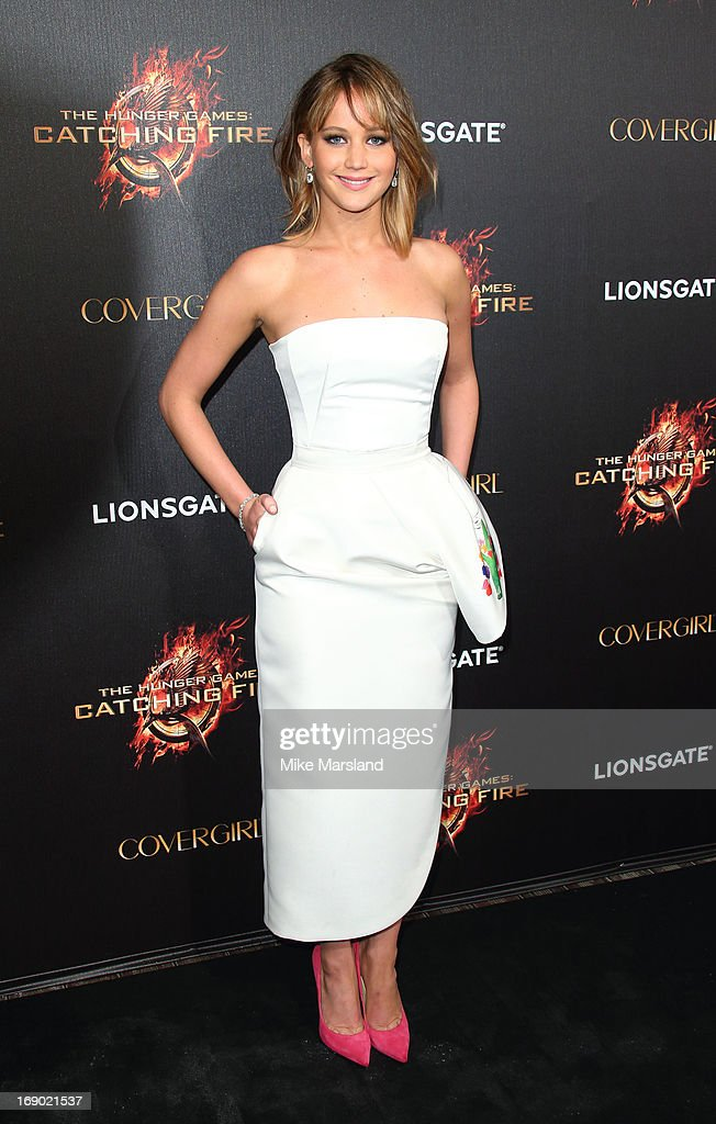 <a gi-track='captionPersonalityLinkClicked' href=/galleries/search?phrase=Jennifer+Lawrence&family=editorial&specificpeople=1596040 ng-click='$event.stopPropagation()'>Jennifer Lawrence</a> attends a party for 'The Hunger Games: Catching Fire' at The 66th Annual Cannes Film Festival at Baoli Beach on May 18, 2013 in Cannes, France.