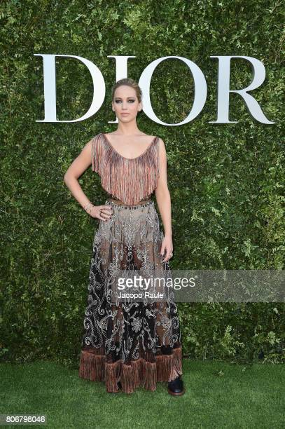 Jennifer Lawrence attends 'Christian Dior couturier du reve' Exhibition Launch celebrating 70 years of creation at Musee Des Arts Decoratifs on July...
