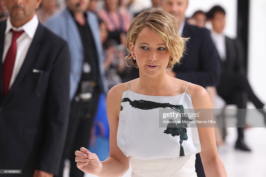 <a gi-track='captionPersonalityLinkClicked' href=/galleries/search?phrase=Jennifer+Lawrence&family=editorial&specificpeople=1596040 ng-click='$event.stopPropagation()'>Jennifer Lawrence</a> attends Christian Dior show as part of Paris Fashion Week - Haute Couture Fall/Winter 2014-2015 at on July 7, 2014 in Paris, France.
