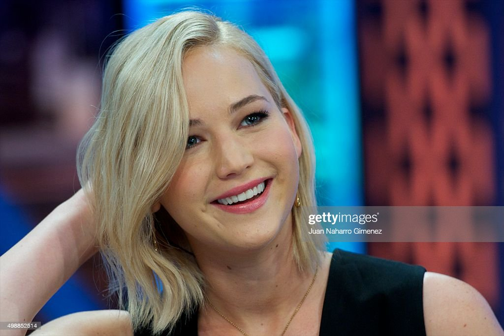 <a gi-track='captionPersonalityLinkClicked' href=/galleries/search?phrase=Jennifer+Lawrence&family=editorial&specificpeople=1596040 ng-click='$event.stopPropagation()'>Jennifer Lawrence</a> attends 'El Hormiguero' Tv show at Vertice Studio on November 26, 2015 in Madrid, Spain.