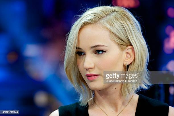 Jennifer Lawrence attends 'El Hormiguero' Tv show at Vertice Studio on November 26 2015 in Madrid Spain