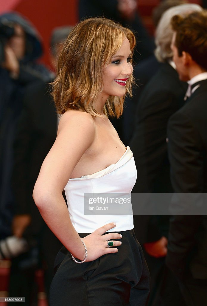 Jennifer Lawrence attends 'Jimmy P. (Psychotherapy Of A Plains Indian)' Premiere during the 66th Annual Cannes Film Festival at Grand Theatre Lumiere on May 18, 2013 in Cannes, France.