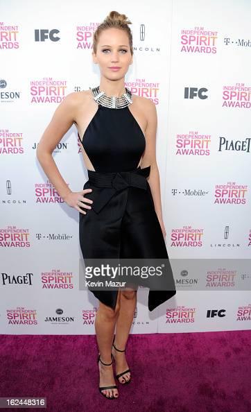 Jennifer Lawrence attends the 2013 Film Independent Spirit Awards at Santa Monica Beach on February 23 2013 in Santa Monica California