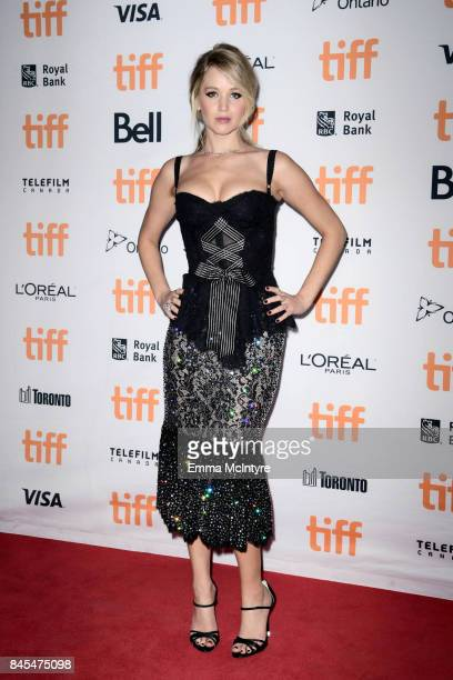 Jennifer Lawrence attends the 2017 Toronto International Film Festival premiere of 'mother' at Princess of Wales Theatre on September 10 2017 in...