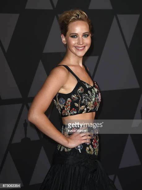 Jennifer Lawrence attends the Academy of Motion Picture Arts and Sciences' 9th Annual Governors Awards at The Ray Dolby Ballroom at Hollywood...