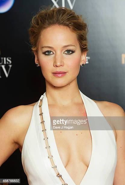 Jennifer Lawrence attends the after party for the World Premiere of 'The Hunger Games Mockingjay Part 1' at Victoria House on November 10 2014 in...