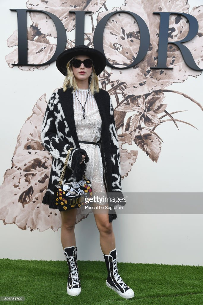 Jennifer Lawrence attends the Christian Dior Haute Couture Fall/Winter 2017-2018 show as part of Haute Couture Paris Fashion Week on July 3, 2017 in Paris, France.