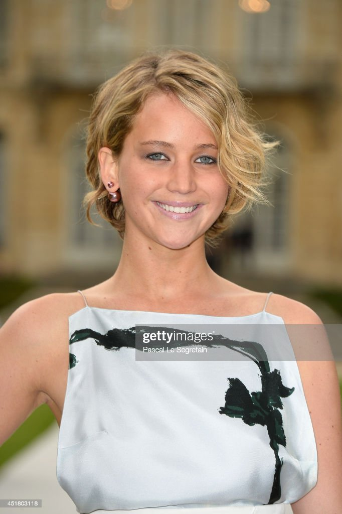 Jennifer Lawrence attends the Christian Dior show as part of Paris Fashion Week - Haute Couture Fall/Winter 2014-2015 on July 7, 2014 in Paris, France.
