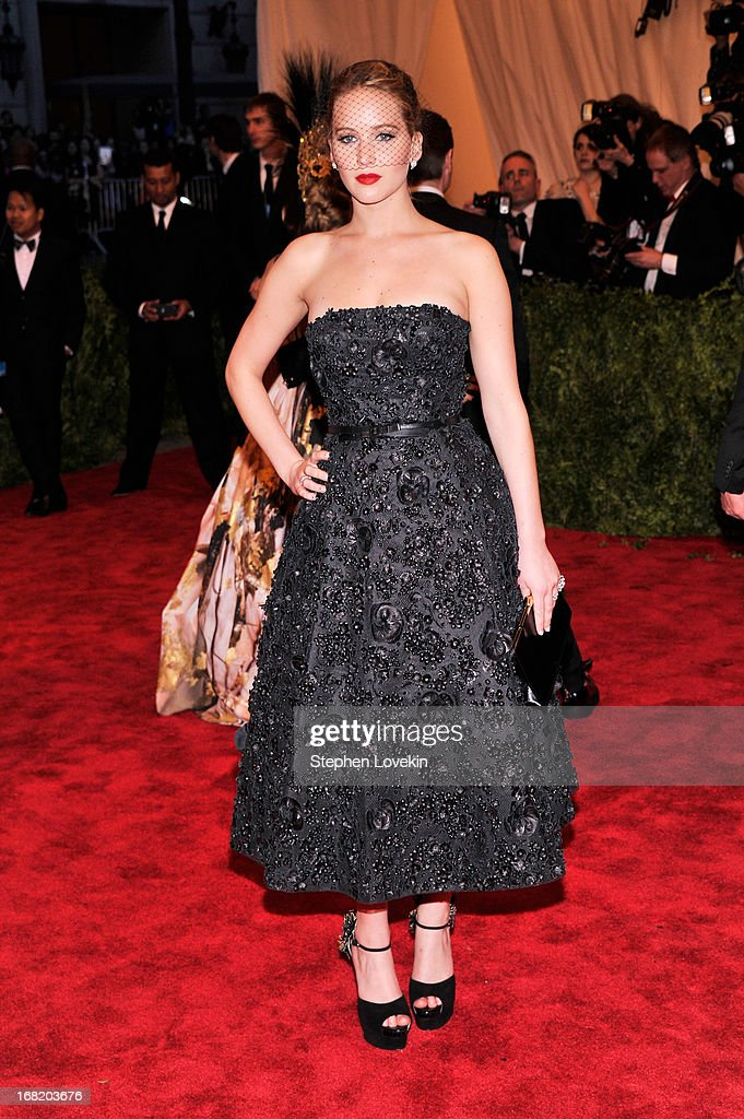Jennifer Lawrence attends the Costume Institute Gala for the 'PUNK: Chaos to Couture' exhibition at the Metropolitan Museum of Art on May 6, 2013 in New York City.