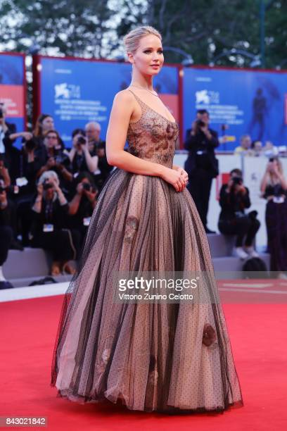 Jennifer Lawrence attends the Gala Screening and World Premiere of 'mother' during the 74th Venice Film Festival at Sala Grande on September 5 2017...