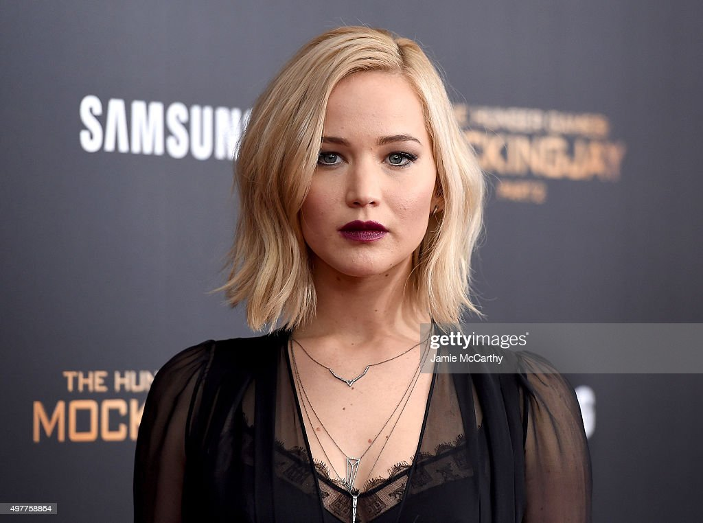 <a gi-track='captionPersonalityLinkClicked' href=/galleries/search?phrase=Jennifer+Lawrence&family=editorial&specificpeople=1596040 ng-click='$event.stopPropagation()'>Jennifer Lawrence</a> attends 'The Hunger Games: Mockingjay- Part 2' New York Premiere at AMC Loews Lincoln Square 13 theater on November 18, 2015 in New York City.
