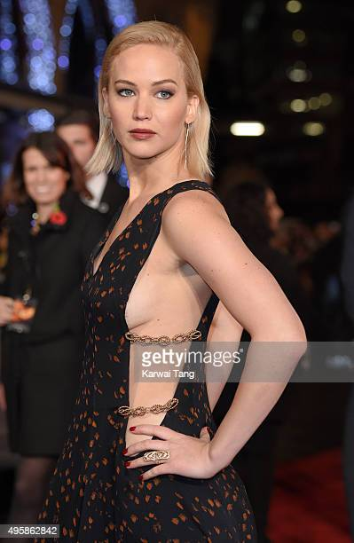 Jennifer Lawrence attends The Hunger Games Mockingjay Part 2 UK Premiere at Odeon Leicester Square on November 5 2015 in London England