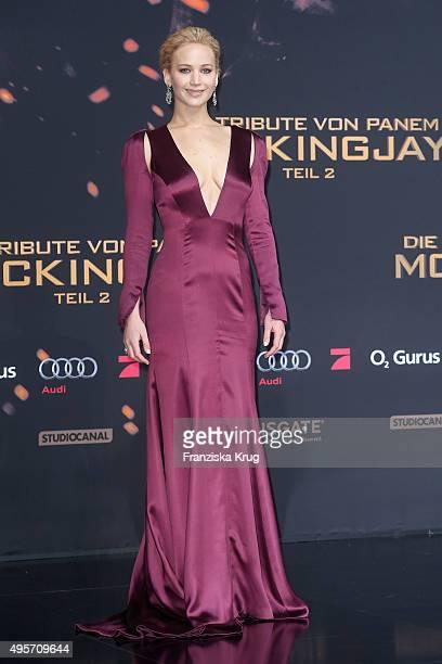 Jennifer Lawrence attends 'The Hunger Games Mockingjay Part 2' world premiere on November 04 2015 in Berlin Germany