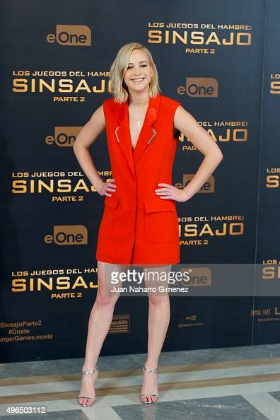 Jennifer Lawrence attends 'The Hunger Games Sinsajo Part 2' photocall at Villa Magna Hotel on November 10 2015 in Madrid Spain