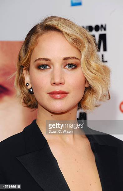 Jennifer Lawrence attends the premiere for 'Serena' during the 58th BFI London Film Festival at Vue West End on October 13 2014 in London England