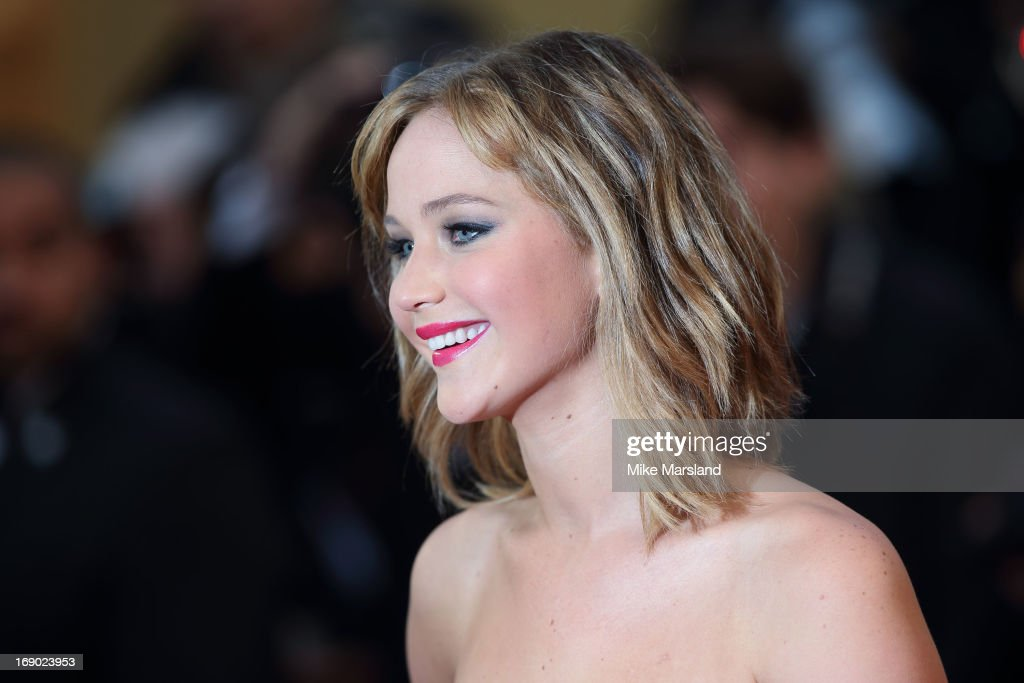 <a gi-track='captionPersonalityLinkClicked' href=/galleries/search?phrase=Jennifer+Lawrence&family=editorial&specificpeople=1596040 ng-click='$event.stopPropagation()'>Jennifer Lawrence</a> attends the Premiere of 'Jimmy P. (Psychotherapy Of A Plains Indian)' at The 66th Annual Cannes Film Festival on May 18, 2013 in Cannes, France.