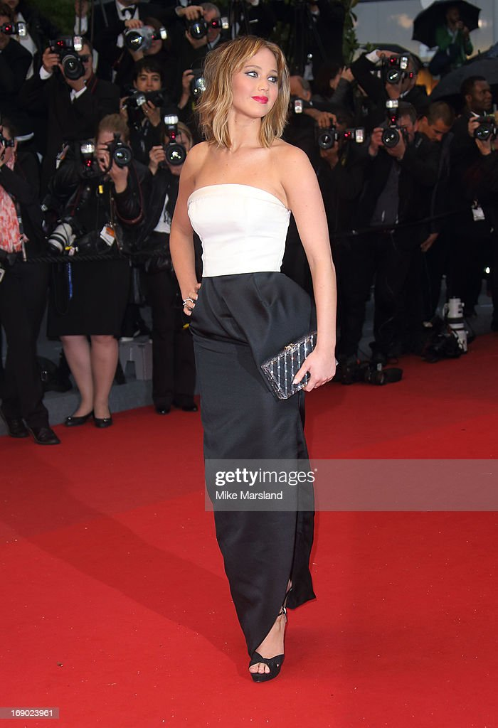 Jennifer Lawrence attends the Premiere of 'Jimmy P. (Psychotherapy Of A Plains Indian)' at The 66th Annual Cannes Film Festival on May 18, 2013 in Cannes, France.