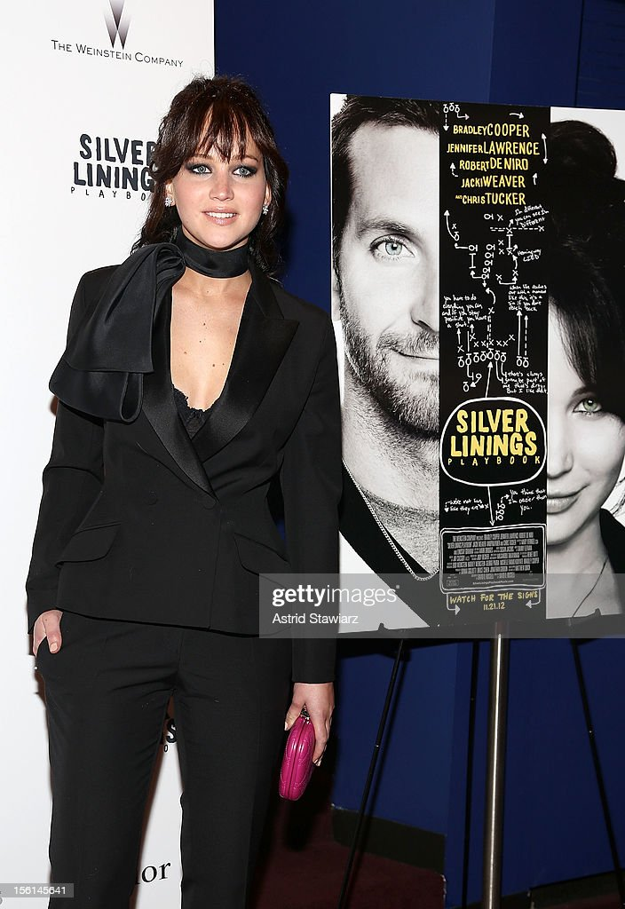 <a gi-track='captionPersonalityLinkClicked' href=/galleries/search?phrase=Jennifer+Lawrence&family=editorial&specificpeople=1596040 ng-click='$event.stopPropagation()'>Jennifer Lawrence</a> attends the 'Silver Linings Playbook' New York Premiere at Florence Gould Hall on November 11, 2012 in New York City.